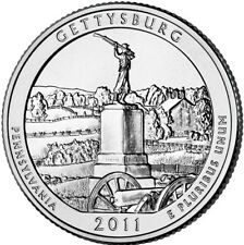 2011 P Gettysburg National Park Quarter Pennsylvania Brilliant Uncirculated ATB