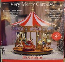 Mr. Christmas 2017 VERY MERRY CAROUSEL 50 SONGS  Christmas Holiday Decor * NEW *