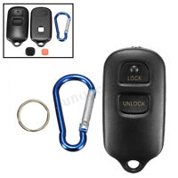 2 Buttons Remote Key FOB Case Shell + Keychain For Toyota Celica Highlander