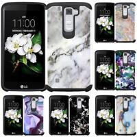 Marble Design Case Cover for LG Phoenix 2 Escape 3 Tribute 5 Treasure LTE K7
