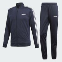 Adidas MTS Team Sports Track Suit Jacket Pants Navy Blue White 3 Stripes DV2468