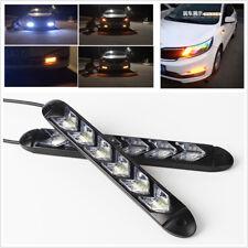 2x Car DRL Flowing 108 LED Strip Light Headlight Arrow Flasher Turn Signal Light