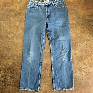 L L Bean Jeans Size 10 Regular Blue Classic Fit Straight Leg 0HVV1 Womens