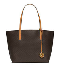 Michael Kors Bag 30S6GH3T7V MK Hayley Large EW Tote Brown Peanut  Agsbeagle