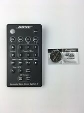 BOSE ACOUSTIC WAVE MUSIC SYSTEM II SOUND DOCK REMOTE CONTROL WITH BATTERIES