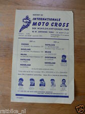 61 FLYER MINIPOSTER INT. MOTOCROSS ST.ANTHONIS 1958,NISSON,BAETEN,LUNDIN,SMITH,A