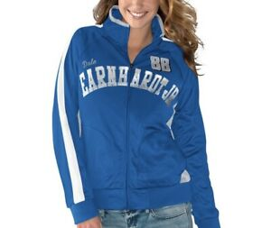 Womans Dale Earnhardt JR G3 Full Zip Track Jacket (Size Xl Blue/White/Gray