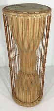 Vintage 19.25 Inches Tall And 7.50 Wide Drum African Cultural Talking Drum