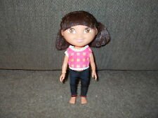 "2009 Mattel 9"" Dora the Explorer Hard Plastic Doll w rooted hair"