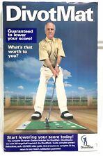 DivotMat Golf Swing Practice Pad w/25 Qty DivotSheets & Instructions EXCELLENT
