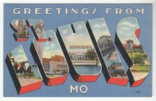 [49765] Old Large Letter Postcard Greetings From St. Louis, Missouri