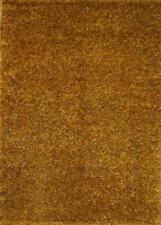 Contemporary Solid Plush Orange Shaggy Oriental Hand-made Modern 4'x6' Area Rug