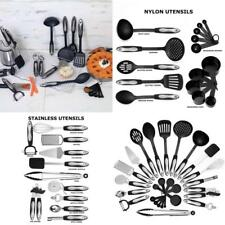 26 Piece Kitchen Cooking Utensils Tools Set Nylon & Stainless Steel Tong Spatula