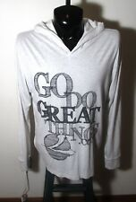 """Men's NEXT LEVEL Beige """"Go Do Great Things"""" Hoodie Size L"""