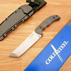 "Cold Steel Medium Warcraft Tanto Fixed Knife 5.5"" CPM 3V Steel Blade G10 Handle"