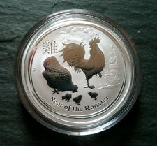 2oz Australiano 2017 Lunar Year Of The Rooster de Plata Barra Moneda