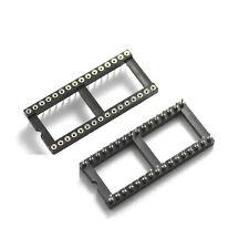 2pcs 32pin Dip32 Sip Ronda Ic sockets Adaptador soldadura tipo Enchapados En Oro De Mecanizado