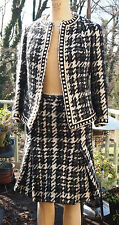 RARE Original Vintage Jacques Fath giant houndstooth wool suit