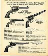 1969 Print Ad of Intercontinental Dakota 22 .357 .41 .44 Magnum 45 Colt Revolver