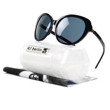 ic! berlin A0581 Livi Sunglasses Black Obsidian, Rose Gold Clamps, Gradient Lens