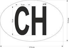 Adesivi adesivo sticker auto moto svizzera ovale codice paese vinilo vinyl
