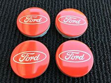 NEW SET OF 4 FORD RED CENTER WHEEL HUB CAPS EMBLEM COVER CAP CP9C-1A096-AA