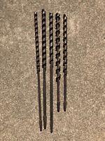 5 Vintage Auger Boring Snell Mfg. Drill Bit Barn Beam Brace Wood
