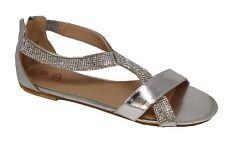 Zapatos de Novia Sandalias con Brillo Muchos Colores Plano 201-19