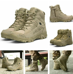 Herren Militärschuhe Soldatenschuhe Wanderschuhe Wüstenstiefel Höhe Stiefel