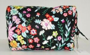 Vera Bradley LARGE COSMETIC TANGERINE TWIST Case Travel Bag Quilted Cotton