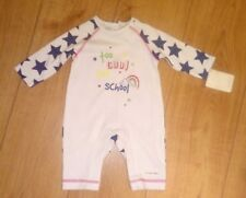 New Mamas And Papas Baby Boy White with Navy Stars Cotton Romper Suit 0/3 Months