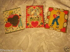 Vintage Valentine Small Card lot of 3
