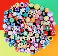 100 tiges batons canes fimo polymere Bijoux Ongles nail fleurs papillons +lame