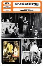 FICHE CINEMA : JE PLAIDE NON COUPABLE - Callamand,Darzal,Gréville 1956 Guilty