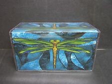 STAINED GLASS DRAGONFLY  IMAGE # 2  CHECKBOOK COVER