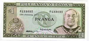 TONGA Billet 1 PA'ANGA 12/01/ 1977 P19c NEUF UNC