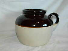 vintage USA pottery stoneware bean pot jug with 1 handle no cover