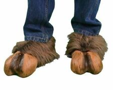 Hoof-hearted Brown Faux Fur & Latex Hoof Shoes Costume Accessory Zagone Studios
