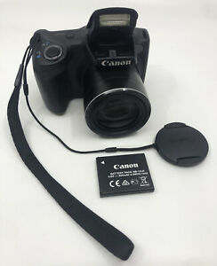 Canon PowerShot SX 400 IS 16mp Digital Camera with 30x Optical Zoom (Black)
