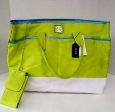 NEW Women's IZOD Tote Bag (Lime/Light Blue/White) X LARGE