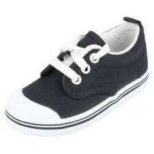 Chaussures bleus moyens à lacets en toile pour garçon de 2 à 16 ans