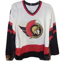 Vintage Ottawa Senators CCM Maska Size M NHL Men's Hockey Jersey Stitched Sewn