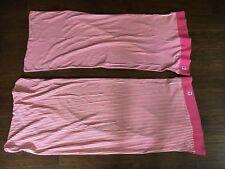 Vintage Ralph Lauren Travis Knit Cotton Mesh Pink Stripe King Pillowcases
