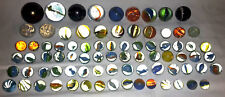80 alte Murmeln Glaskugeln aus einem Nachlass Durchmesser von 12mm - 35mm