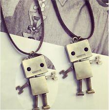 Metallic Fashion Korea Choker Length Bronze Long Sweater Chain Robot Necklace