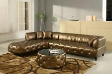 Chesterfield Luxus Wohnlandschaft Couch Polster Garnitur Ledersofa Sofa Ecksofa