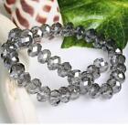 4X6 mm, Gris Transparent , naturel facetté cristal , perles lâches , 98pcs