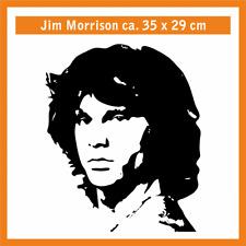 JIM MORRISON Wandtatoo, ca. 35 x 28 cm, Hochleistungsfolie mit Montagepapier