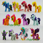 MY LITTLE PONY ACTION FIGURE CAKE TOPPER KID FIGURINES PLAY SET 12 PCS