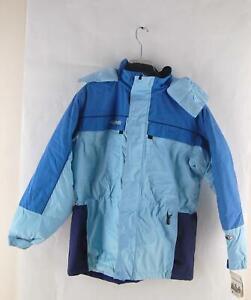 Columbia Tectonite Hooded Girls Youth Winter Ski Snow Jacket Blue 2XL (18-20)